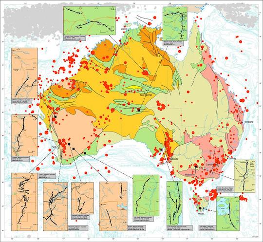 Earthquake-Epicentres-Australia